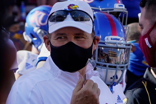Coach Les Miles lasted only two seasons at Kansas.