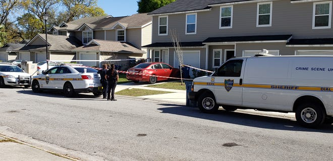 Police investigate a death Wednesday afternoon on Rain Forest Drive.