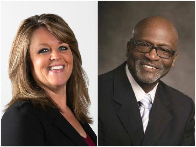 Mayor Jodi Miller will be challenged by Ronnie Bush in the Freeport mayor's race April 6.