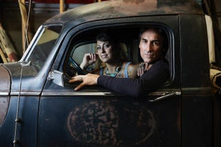 Mike and Danielle from American Pickers.