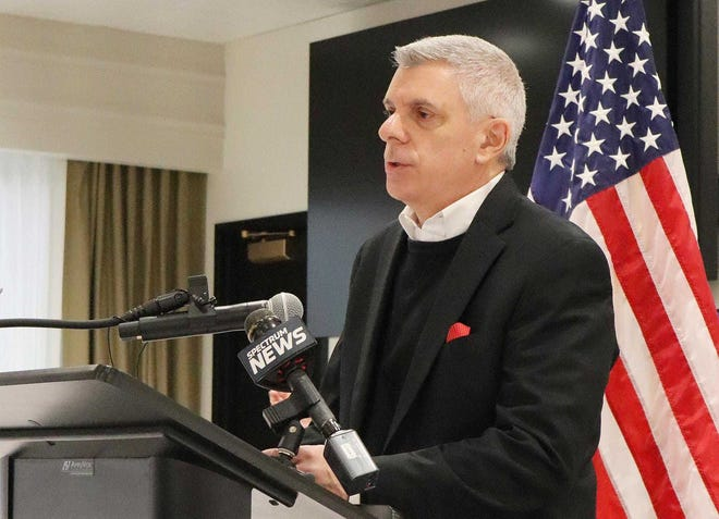 In this O-D file photo, Oneida County Executive Anthony Picente speaks during a COVID-19 briefing.