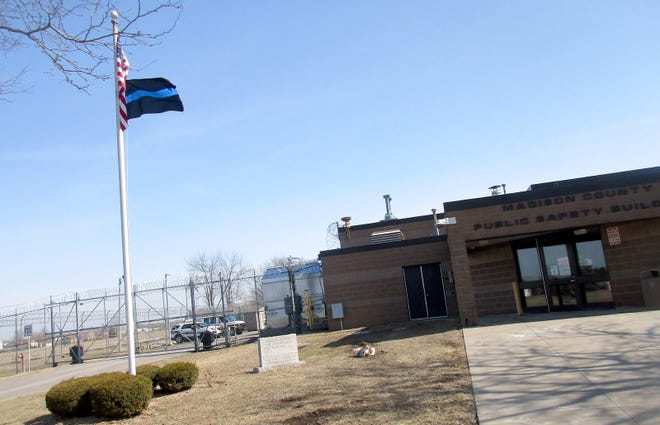 A new Thin Blue Line flag now flies over the Madison County Public Safety Building in Wampsville and will remain there thanks to a March 9 vote by the county Board of Supervisors.