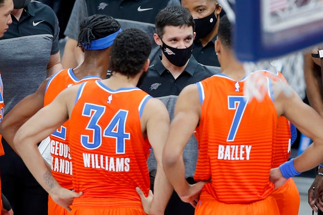 First-year Thunder coach Mark Daigneault has been experimenting with OKC's lineup lately. [Bryan Terry/The Oklahoman]
