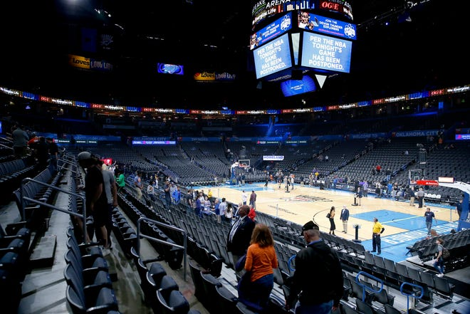 The Thunder and Jazz were supposed to play last March 11 in Oklahoma City, but fans cleared the arena before the game even started.