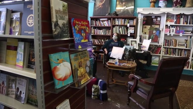 Nappy Roots Books, a Black-owned bookstore in Oklahoma City, is shown in this photo.