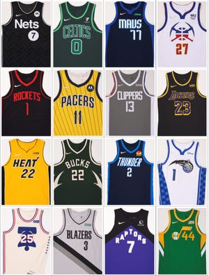 The NBA unveiled 16 Earned Edition uniforms Wednesday