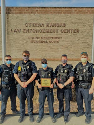The Ottawa Police Department received the AAA Gold Kansas Community Traffic Safety Award for traffic safety efforts in 2020. There were 43 awards presented in Kansas in 2020. Only 32 were earned by municipal police departments.