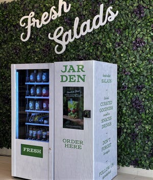 The Jarden vending machine is in the food court at the Palm Beach Outlets.