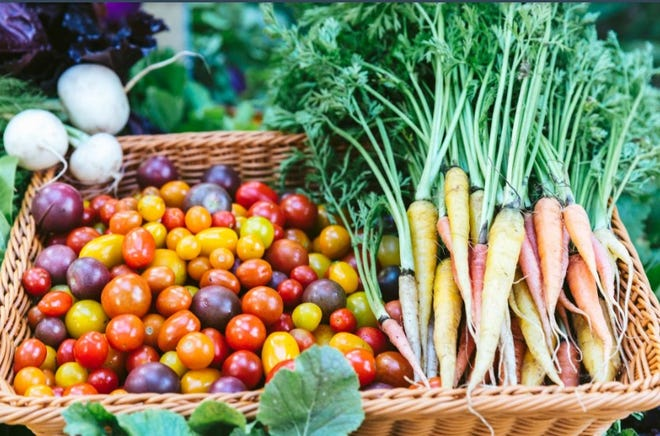 These are some of the crops grown at Lox Farms. The proceeds of sales from Lox Farms help fund the charitable community gardening programs that Lox Farms owner Margaret Duriez is so passionate about.