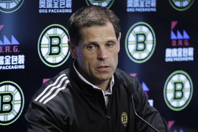 """Bruins general manager Don Sweeney says the fact that the NHL season has been a success, so far, """"is a testament to the players, the owners and the industry itself."""""""