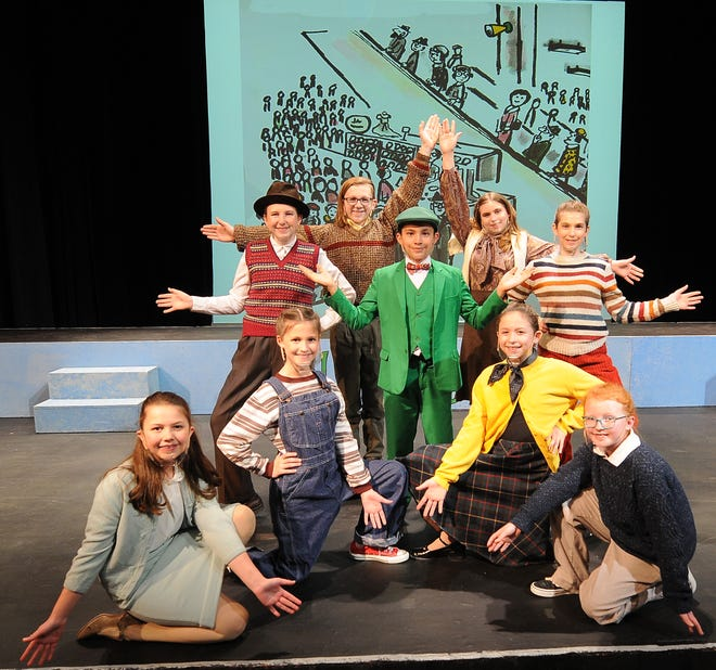 """Cast members of """"Lyle the Crocodile"""" rehearse a scene in the musical that will be showing at the Salina Community Theater, 303 E. Iron Ave., this weekend."""