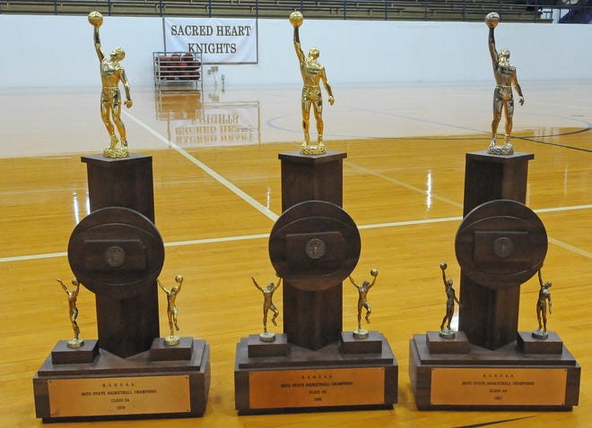 Sacred Heart won three consecutive championship trophies in 1979, '80 and '81.