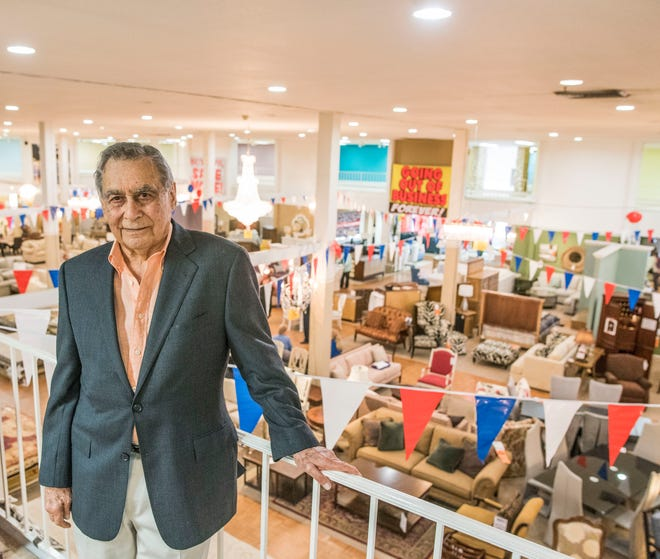Ed Kalin is shown in this 2016 photo in his Kalin's Furniture store, known for most of its 66 years as Kane's.