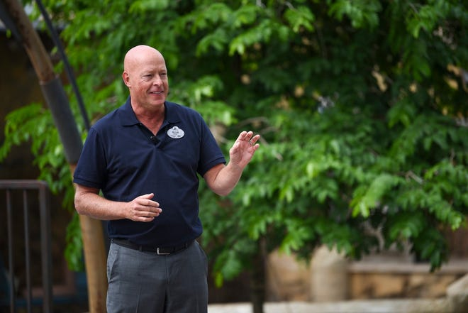 Chairman of Disney parks Bob Chapek speaks at the dedication ceremony for Star Wars: Galaxy's Edge on Aug. 28, 2019 at Walt Disney World's Hollywood Studios in Orlando, Florida.