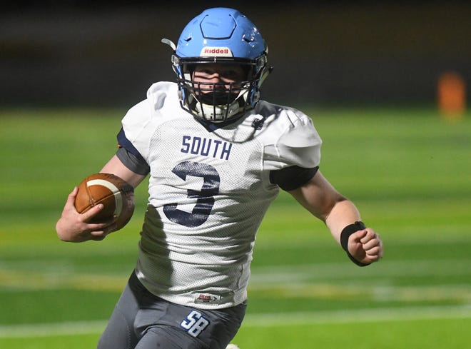 South Brunswick's Danny Parker scored the game's only touchdown on a fumble recovery and run as the Cougars held off rival North Brunswick 7-0 in Tuesday's season opener.