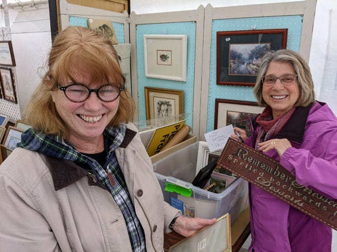 Pictured, New Bern Historical Society volunteers are ready to help attendees at their ABC Yard Sale set for Saturday, March 13 and Saturday, March 27.