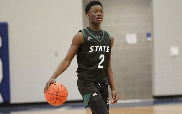 Free State's Mozae Downing has helped the Firebird to a 4-0 record in overtime games this season, including Monday's Class 6A state quarterfinal win over Wichita Heights.