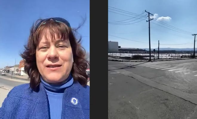 Rep. Tricia Farley-Bouvier called in to a virtual MassDevelopment event to show Gov. Charlie Baker and development officials Pittsfield's Site 9, one of 10 projects across the state to receive a combined $3.2 million in site readiness grants.