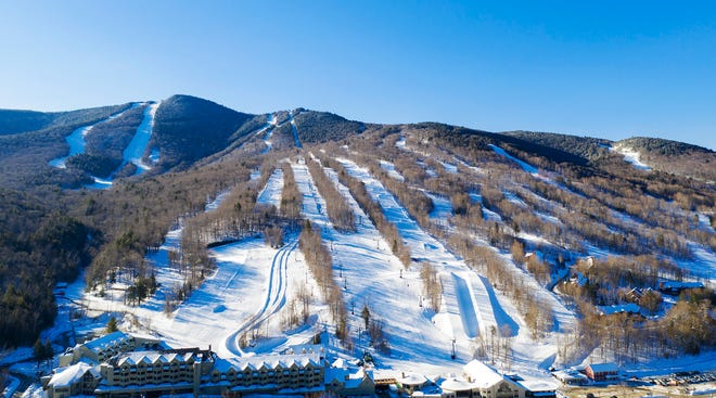 Loon Mountain Resort sports its many trails in Lincoln, New Hampshire.