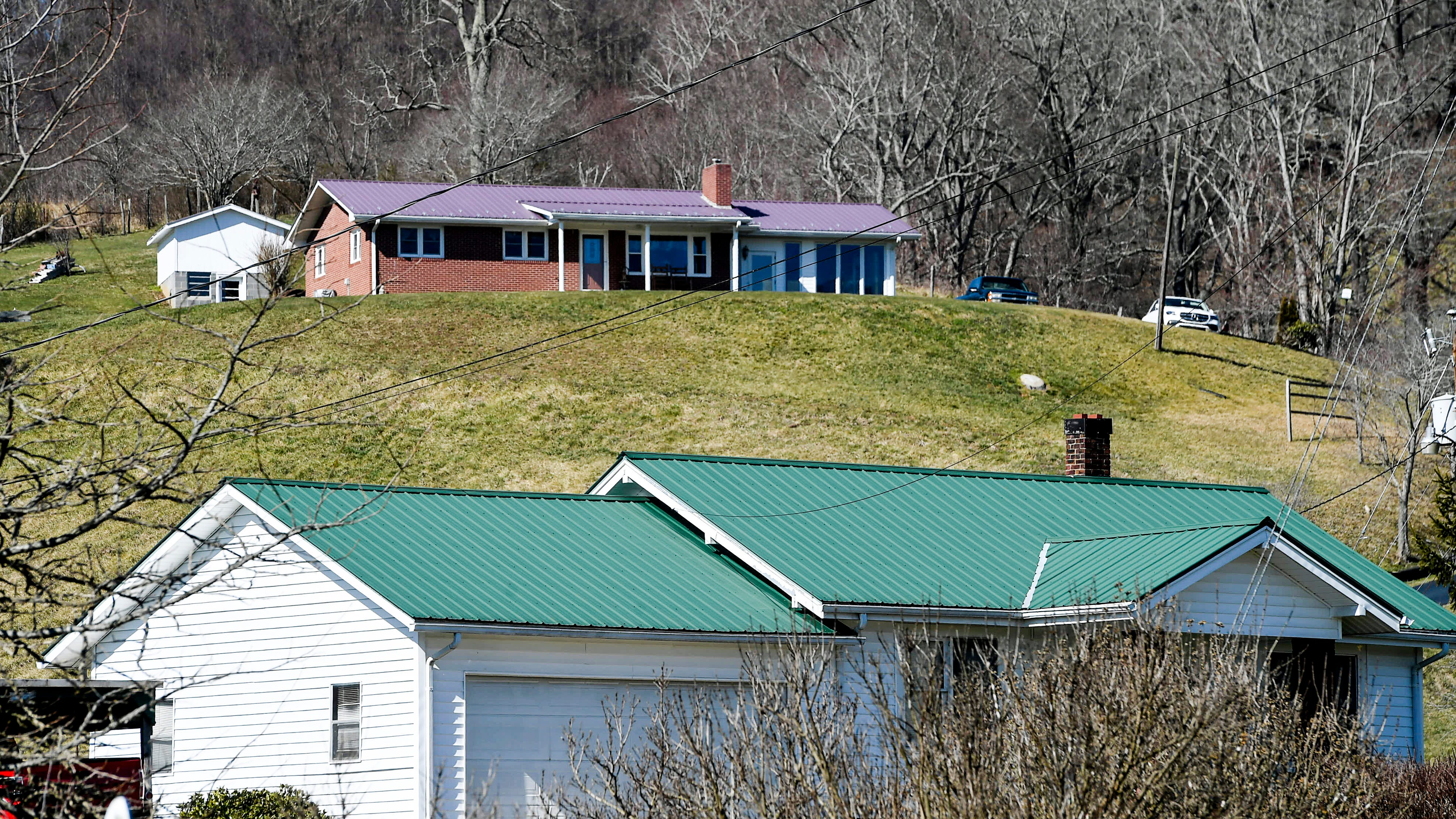 Homes in Waynesville March 8, 2021.