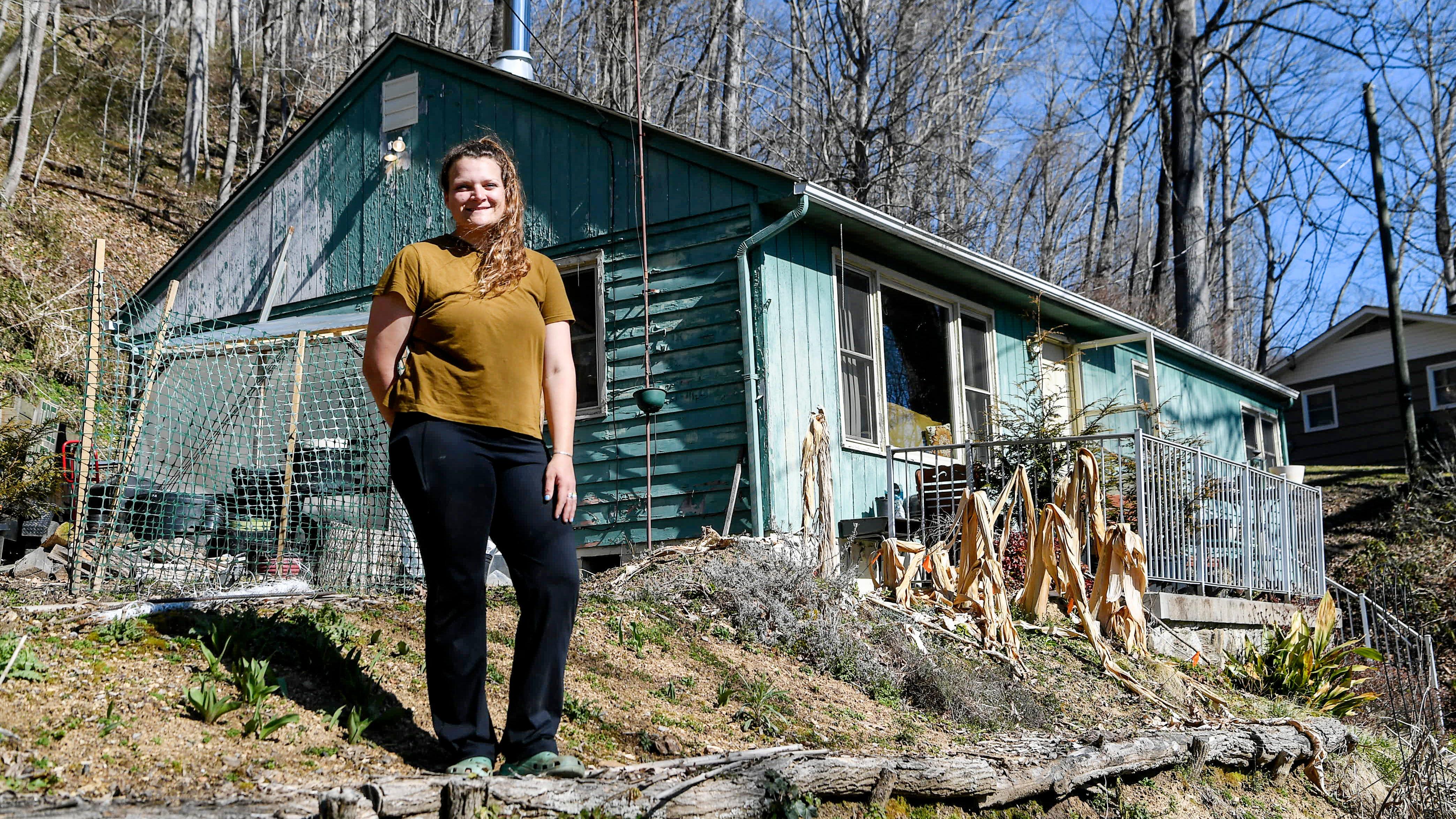 Rachel Baran at her home in Waynesville.