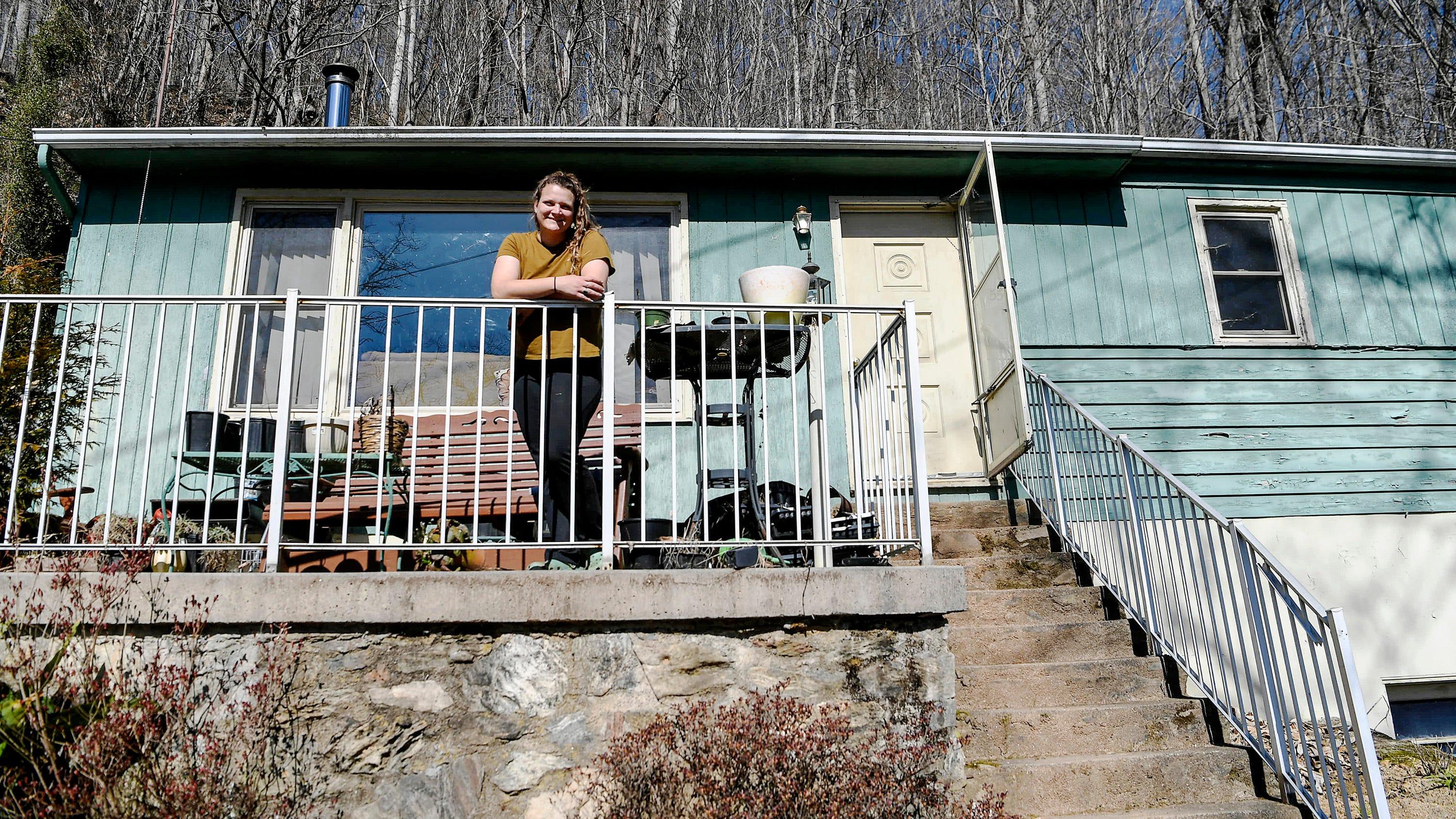 Rachel Baran at her home in Waynesville March 8, 2021.