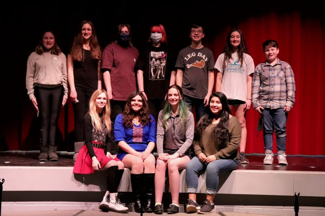 """The students in Sandy Valley Drama Club's presentation of """"Nunsense: The Mega Musical."""""""