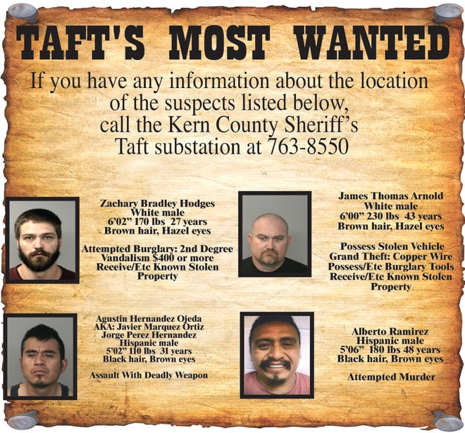 Taft's Most Wanted for March 11