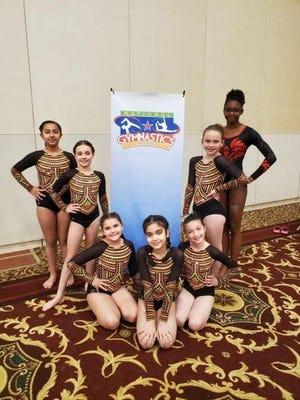 Panastics Gymnastics Xcel Silver team.