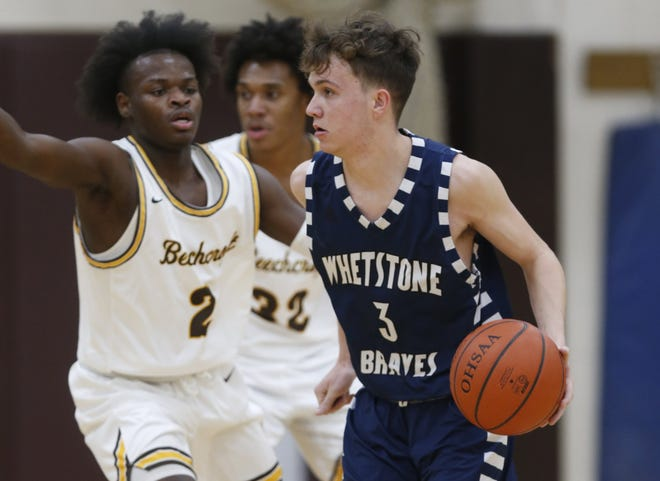 Senior guard Caleb Brigle averaged a team-high19 points and was second-team all-City League for Whetstone. The Braves finished 2-8 in an abbreviated season.