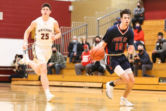 Cole Keplar was one of nine seniors on the Grove City boys basketball team. Keplar was honorable mention all-league after leading the Greyhounds in rebounding at 5.1 per game.
