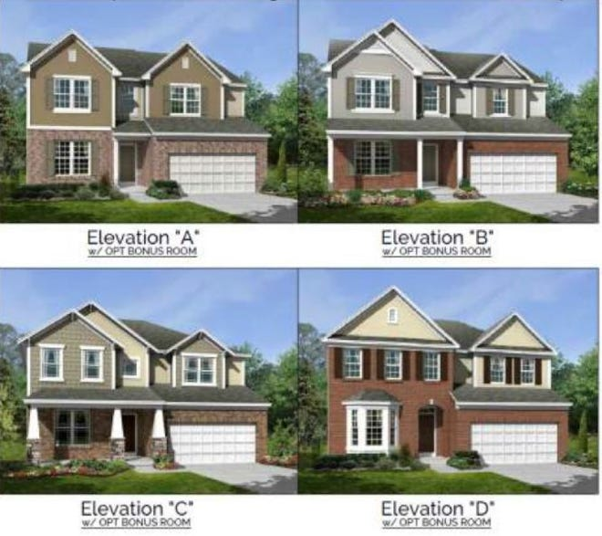 This is one of 11 homes M/I Homes will build in the Timberhill subdivision off Ohio 4 in Fairfield Township.