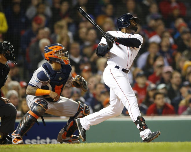 Jackie Bradley Jr. will play in his first game in a Brewers' uniform on Saturday in a Cactus League contest against the Texas Rangers at American Family Fields of Phoenix.
