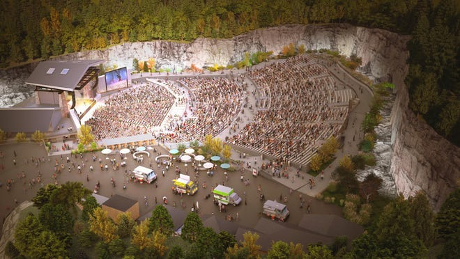 A rendering of the new FirstBank Amphitheater, a 7,500-capacity venue set to open in Thompson's Station later in 2021.