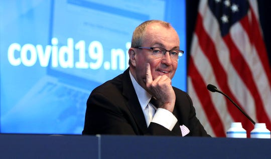 New Jersey Governor Phil Murphy speaks during his COVID-19 briefing at the War Memorial in Trenton Tuesday, March 10, 2021.