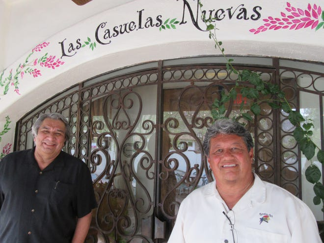 Joaquin Delgado and Ray Rodriquez, owners of Casuelas Café and Cork Tree, provided food demonstrations.