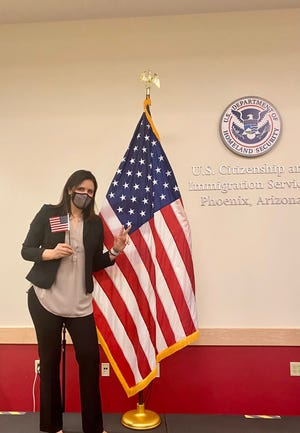 Arizona State volleyball coach Sanja Tomasevic became a U.S. citizen on Monday. She is a native of Serbia.