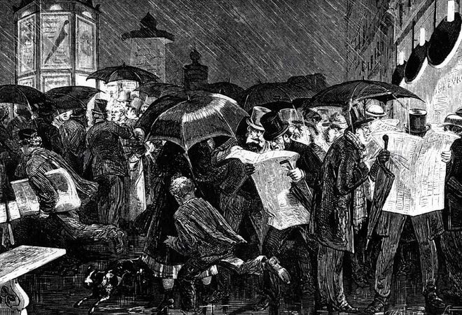 Readers in the 19th Century avidly devoured local news of the day.