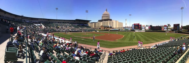 """Frontier Field, 2011. This was the first panorama published in our """"Rochester View"""" feature."""