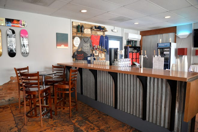 Updated bar and taproom at Redbeard Brewing Company in Staunton.