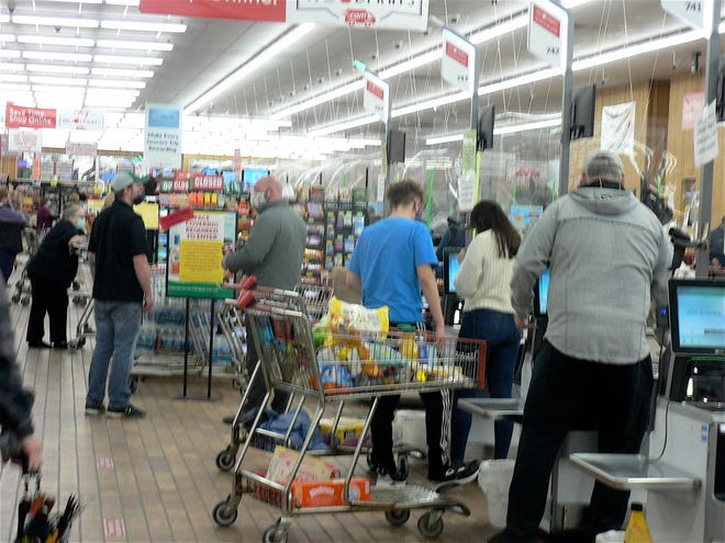 """Sales at grocery stores have increased during the pandemic as people have eaten more """"at home"""" meals."""