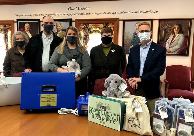 Forget-Me-Not-Baskets, through a $3,500 grant from the Muskingum County Community Foundation, was able to provide bereavement supplies to Genesis HealthCare System for the rest of 2021.