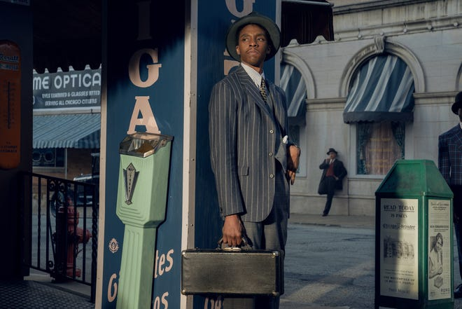 "Chadwick Boseman is nominated for SAG's best actor as Levee in Netflix's ""Ma Rainey's Black Bottom."""