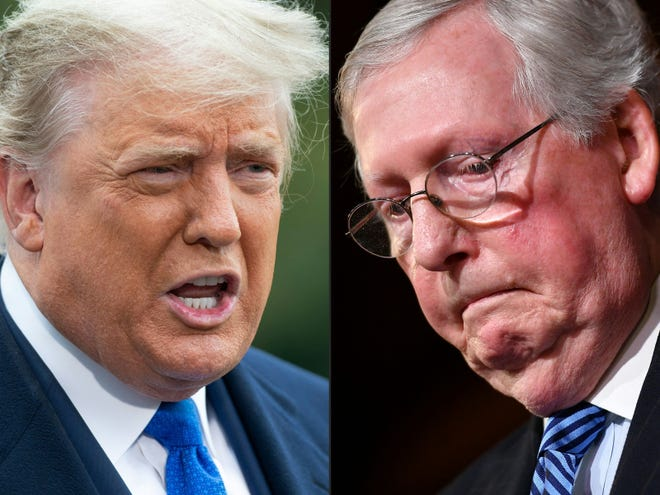 Former President Donald Trump and Senate Republican leader Mitch McConnell