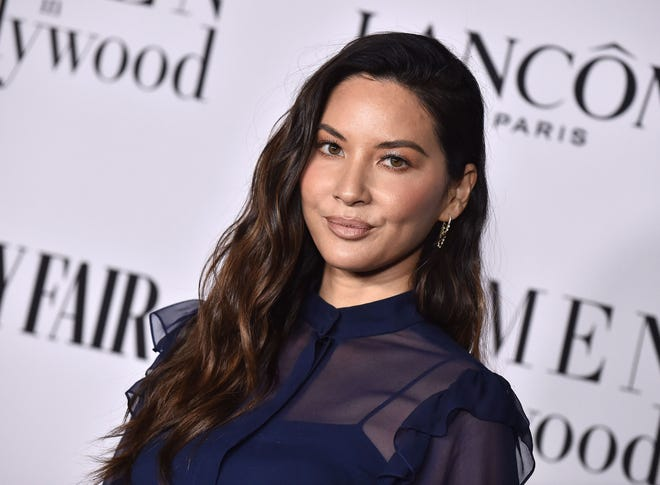 =Olivia Munn attends the Vanity Fair and Lancome Women In Hollywood Celebration in West Hollywood, California, on February 6, 2020.