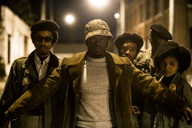 "Daniel Kaluuya (center) plays Black Panther leader Fred Hampton in the historical drama ""Judas and the Black Messiah."""