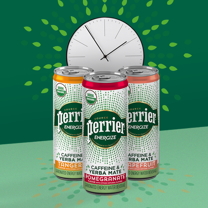 Perrier launches carbonated energy beverage in grapefruit, pomegranate, tangerine flavors