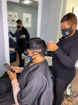 In her Capitol Heights, Maryland beauty salon, Katrina Randolph is on the front lines in the Black community's fight against COVID vaccine misinformation on social media.