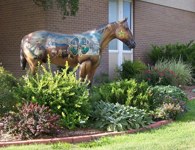 A project garden maintained by members of the Randall County Master Gardeners.
