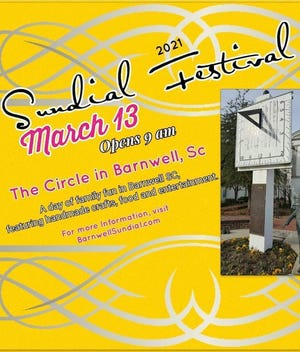Everyone is invited to the Sundial Festival on March 13 in Barnwell.